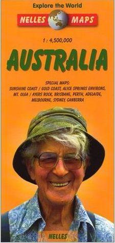 Ausztrália térkép - Nelles