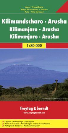 Kilimanjaro - Arusha autótérkép - f&b AK 159