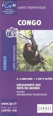 Kongó térkép - IGN