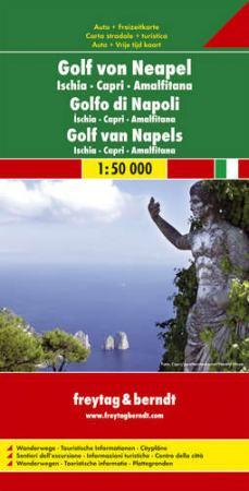 No10. - Nápolyi-öböl - Ischia - Capri - Amalfi autótérkép - f&b AK 0606