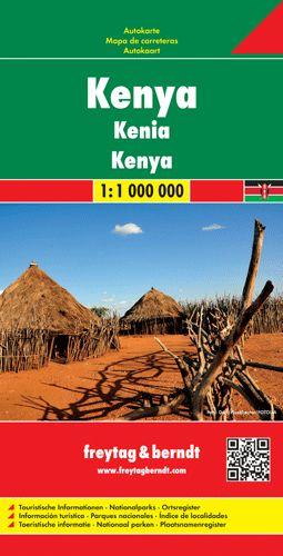 Kenya autótérkép - f&b AK 2103