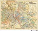 Budapest Székesfőváros Térképe (íves falitérkép) - HM