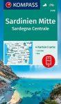 WK 2498 - Szardinia középső része 4 db-os térképkészlet - KOMPASS