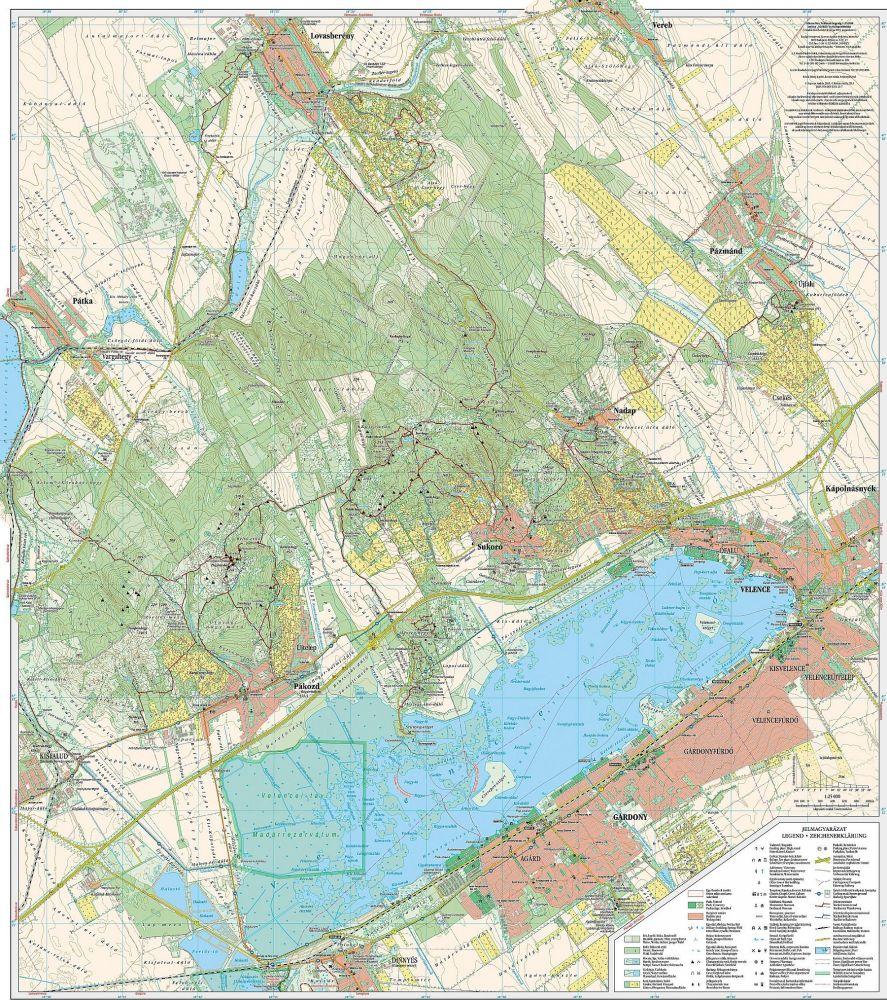 Velencei To Velencei Hegyseg Terkep Szarvas Map Utikonyv
