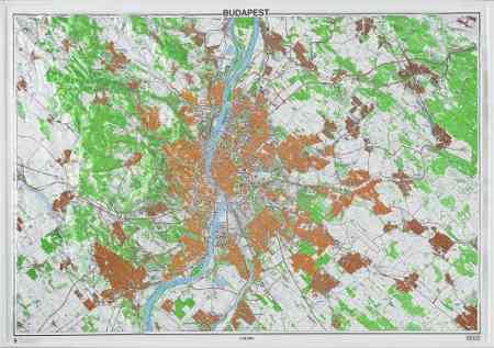 Budapest dombortérképe (114 x 81) - HM