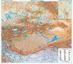 Kína észak-nyugati része falitérkép - GiziMap