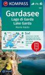 WK 102 - Garda See turistatérkép - KOMPASS