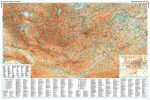 Mongólia domborzati falitérkép - GiziMap