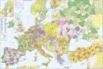 Európa +Törökország postairányítószámos falitérkép - Stiefel