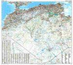 Algéria autótérkép falitérkép - GiziMap