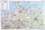Észak-Németország domborzata falitérkép - f&b