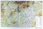 Magyarország általános földrajza falitérkép - HM
