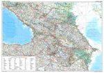 Kaukázus autótérkép falitérkép - GiziMap