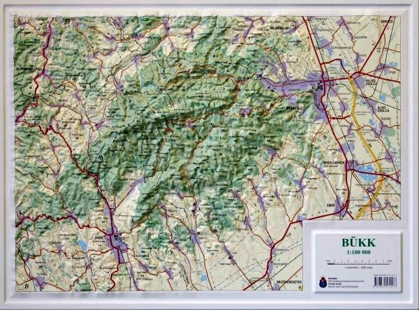bükk térkép Bükk dombortérkép   HM   Útikönyv   Térkép   Földgömb