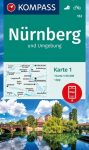 WK 163 - Nürnberg und Umgebung 2 részes turistatérkép - KOMPASS