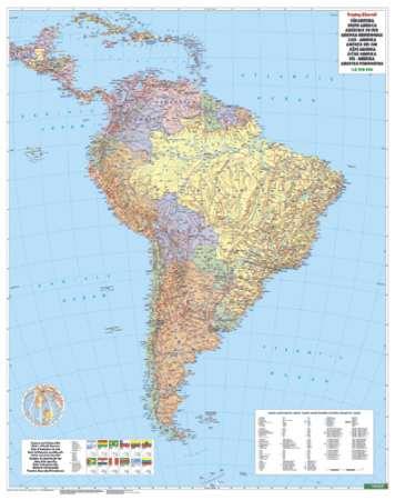 dél amerika térkép Dél Amerika falitérkép   f&b   Útikönyv   Térkép   Földgömb dél amerika térkép