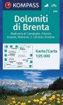 WK 688 - Gruppo di Brenta turistatérkép - KOMPASS