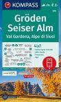 WK 076 - Gröden-Seiser Alm turistatérkép - KOMPASS