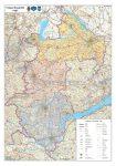 Nyugat-Dunántúl régió járásainak térképe - Stiefel
