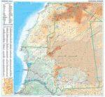 Mauritánia domborzati falitérkép - GiziMap