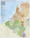 Benelux államok postai irányítószámai falitérkép - Stiefel