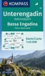 WK 98 - Unterengadin - Bassa Engadina - Nationalpark - Parco Nazionale turistatérkép - KOMPASS