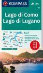 WK 91- Lago di Como - Lago di Lugano turistatérkép - KOMPASS