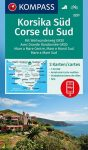 WK 2251 - Korsika Süd - Corse du Sud - Weitwanderweg GR20 3 részes turistatérkép - KOMPASS