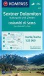 WK 625 - Sextner Dolomiten turistatérkép - KOMPASS