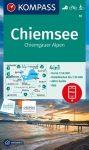 WK 10 - Chiemsee - Simsee turistatérkép - KOMPASS