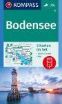 WK 11 - Bodensee 2 részes turistatérkép - KOMPASS