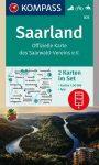 WK 825 - Saarland 2 részes turistatérkép - KOMPASS