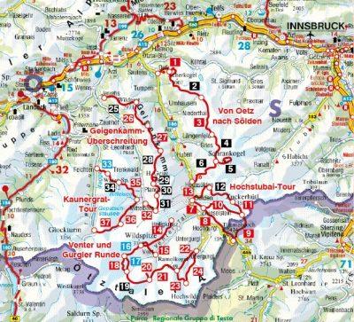 Trekking Im Otztal Und Pitztal 4499 Utikonyv Terkep Foldgomb