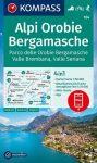 WK 104 - Alpi Orobie / Bergamasche turistatérkép - KOMPASS