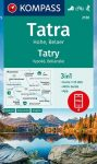 WK 2130 - Vysoké Tatry / Hohe Tatra turistatérkép - KOMPASS