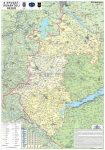 Nyugat-Dunántúl régió falitérkép (fémléces) - Stiefel