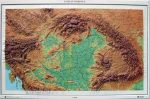 Kárpát-medence dombortérképe (63 x 44) - HM