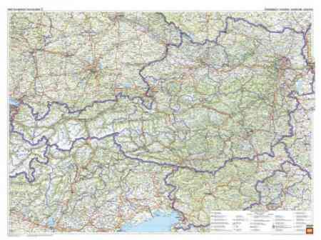 ausztria domborzati térkép Ausztria domborzata falitérkép   f&b   Útikönyv   Térkép   Földgömb ausztria domborzati térkép