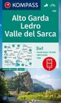 WK 096 - Alto Garda - Val di Ledro turistatérkép - KOMPASS