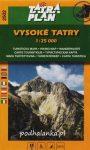 Tatra Plan 2502 - Vysoké Tatry (Magas-Tátra) turista térkép