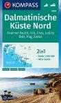 WK 2901 - Dalmát tengerpart (észak) turistatérkép - KOMPASS
