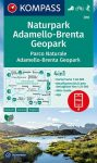 WK 070 - Parco Naturale Adamello-Brenta turistatérkép - KOMPASS