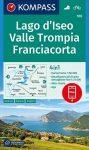 WK 106 - Lago d'Iseo - Valle Trompia - Franciacorta turistatérkép - KOMPASS