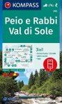 WK 095 - Val di Sole - Peio e Rabbi turistatérkép - KOMPASS
