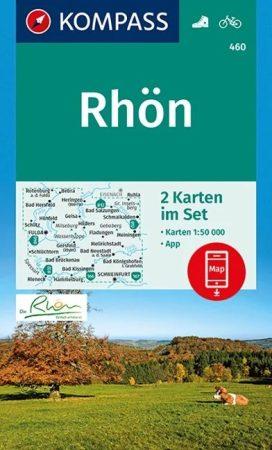 WK 460 - Rhön 2 részes turistatérkép - KOMPASS