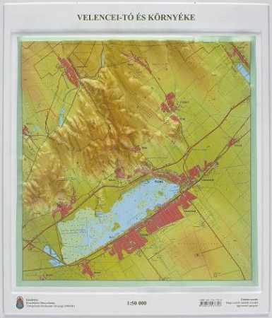 Velencei-tó és környéke dombortérképe - HM