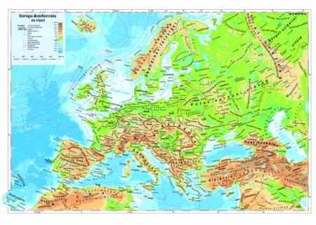 közép európa domborzati térkép Európa domborzata térkép könyöklő   Stiefel   Útikönyv   Térkép  közép európa domborzati térkép