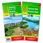 Azori turistatérkép készlet - WKP 3 SET f&b