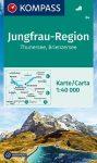 WK 84 - Jungfrau-Region: Thuner und Brienzersee turistatérkép - KOMPASS