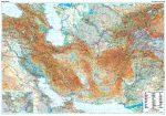 A Selyemút államai domborzati falitérkép - GiziMap